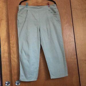 Olive Green Capri Pants